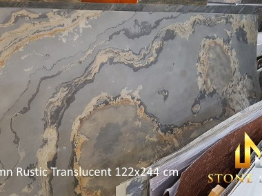 Rustic Black - Fornir kamienny transparentny do podświetlenia-1