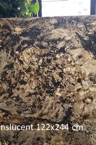 Rustic Black - Fornir kamienny transparentny do podświetlenia-2