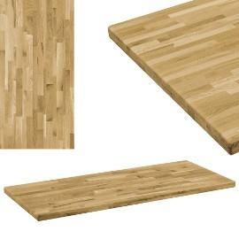 vidaXL Prostokątny blat do stolika z drewna dębowego, 44 mm, 120x60 cm246001