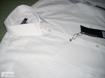SMOG koszula SREBRNE Paski NOWA L i XL Impreza Wesele
