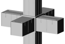Łącznik plastikowy do profili aluminiowych typ G, do rura kwadratowa 20x20x1,5