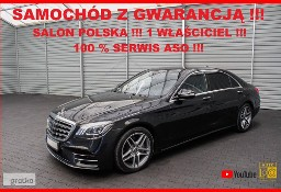 Mercedes-Benz Klasa S W222 400 LONG + 4MATIC + Automat + Salon PL + 1 WŁ + 100% Serwis M-B !!!