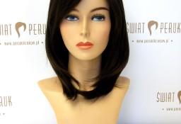 Peruka długa z włosów syntetycznych w ciemnym kolorze Pińczów