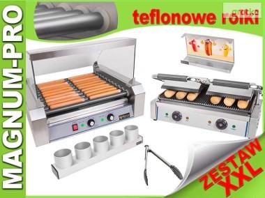 Zestaw do HOT-DOGÓW XXL podgrzewacz + grill + akcesoria teflon-1