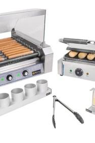 Zestaw do HOT-DOGÓW XXL podgrzewacz + grill + akcesoria teflon-2