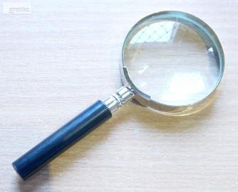 Lupa na rączce 3,5x ø50mm bardzo dobrej jakości, czyste szkło