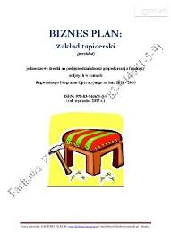 BIZNESPLAN zakład tapicerski (przykład)