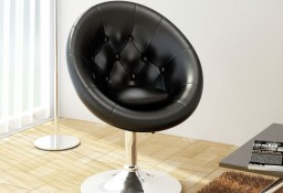 vidaXL Krzesło barowe, czarne, sztuczna skóra240449
