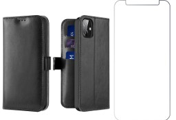 Etui Kado do iPhone 12 Mini czarny + szkło płaskie