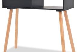 vidaXL Stolik typu konsola, drewno sosnowe, 80x30x72 cm, czarny244738