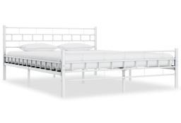 vidaXL Rama łóżka, biała, metalowa, 140 x 200 cm285298