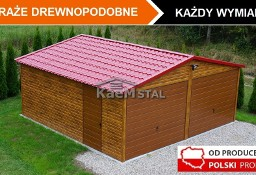 Garaż blaszany 6x5 drewnopodobny PRODUCENT garaży blaszanych MONTAŻ CAŁA POLSKA