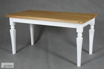 stół dębowy Floriano, styl angielski, lite drewno