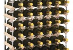 vidaXL Stojak na 42 butelki wina, lite drewno sosnowe 282470