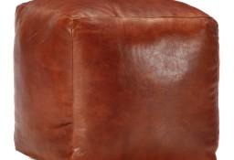 vidaXL Puf, brąz tan, 40x40x40 cm, prawdziwa kozia skóra248126