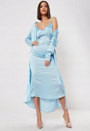 (42/XL) Firmowy, długi komplet: długa sukienka +narzutka: długa koszulka nocna +szlafrok/ jak NOWY