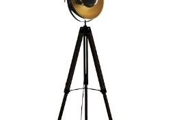 Lampa industrialna podłogowa. Czarna, trójnóg. Loft