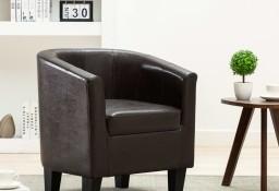 vidaXL Fotel klubowy, ciemnobrązowy, sztuczna skóra248053