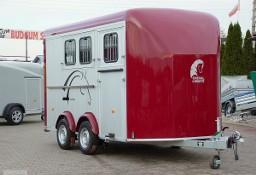Przyczepa do przewozu koni Przyczepa Aluminiowa Trzykonna marki Debon Cheval Liberte Przyczepa model Minimax Przyczepa z przednią rampą