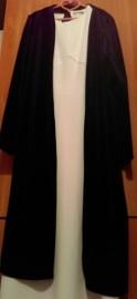 (38) RIVER ISLAND/ Ekskluzywny, długi, czarny płaszcz aksamitny/welurowy z Londynu/ jak NOWY