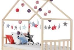 vidaXL Rama łóżka dziecięcego, lite drewno sosnowe, 90 x 200 cm283366