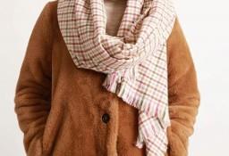 Ekskluzywny, długi i szeroki szal zimowy, chusta, ponczo z Londynu/ NOWY