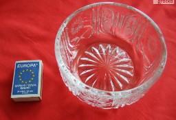 Misa miseczka kryształowa okrągła PRL kryształ