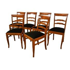 Krzesła art deco, 6 krzeseł sygnatura gościcino stare antyki
