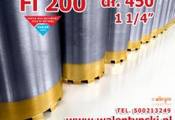 Wiertło Wiertła Diamentowe Koronowe Fi 200mm x 450 mm do betonu zbrojonego