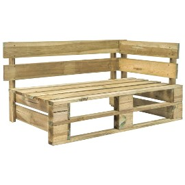 vidaXL Ogrodowa ławka narożna z palet, drewno44695