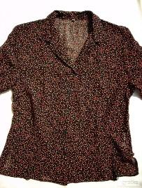 Zwiewna Koszula Bluzka Grochy Groszki 40 42