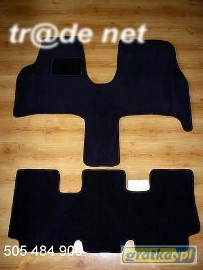 Citroen C8 od 2003r. najwyższej jakości dywaniki samochodowe z grubego weluru z gumą od spodu, dedykowane Citroen C8