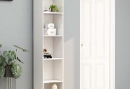 vidaXL Regał na książki, wysoki połysk, biały, 40x30x189 cm 800960