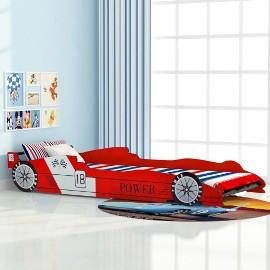 vidaXL Łóżko dziecięce w kształcie samochodu, 90x200 cm, czerwone244464