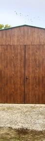 Garaż blaszany dwuspadowy 7x6 podwyższony kolor złoty dąb-3