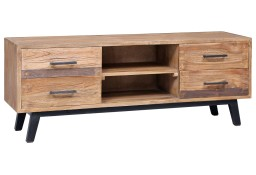 vidaXL Szafka pod TV, 120 x 30 x 45 cm, lite drewno tekowe285312
