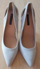 Nowe buty Lost Ink 40 szare szpilki obcasy wysokie eleganckie szpic