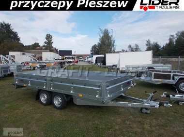 NP-103 przyczepa 420x215x40cm, N20-420 2 kps, towarowa ciężarowa, platforma do 6 europalet, DMC 2000kg-1