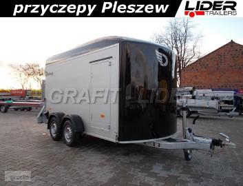 DB-043 przyczepa 366x165x195cm, fourgon C500XL, bagażowa, do przewozu motocykli, quadów, towarowa, ściany aluminiowe, drzwi boczne, ...