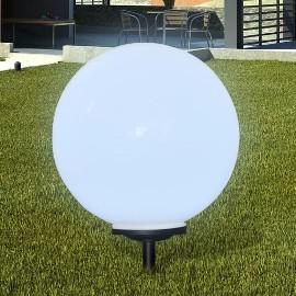 vidaXL Zewnętrzna lampa solarna LED, kula, 50 cm, 1 szt., z bolcem 40867