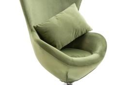 vidaXL Fotel obrotowy z poduszką, jasnozielony, aksamitny248467