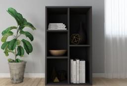 vidaXL Regał na książki/szafka, czarny, 50 x 25 x 80 cm, płyta wiórowa800163