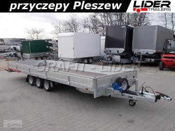 TM-190 przyczepa 588x211x30cm, Carplatform 6021S, laweta, platforma, pełna podłoga sklejkowa, koła 10