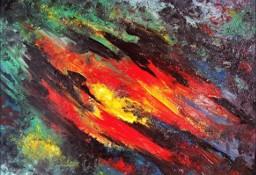 Kompozycja Abstrakcyjna - sprzedam obraz olejny