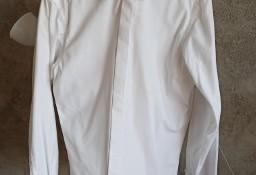 Koszula biała męska rozmiar 39 z mankietami slim fit garniturowa