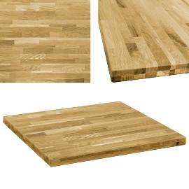 vidaXL Kwadratowy blat do stolika z drewna dębowego, 44 mm, 70 x 70 cm245998