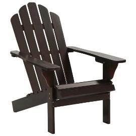 vidaXL Fotel ogrodowy, drewniany, brązowy 45703