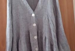 (36/S) ZARA/ Szara , dzianinowa bluzka rozkloszowana z Madrytu/ tunika