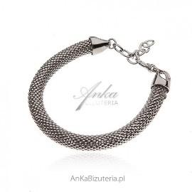 Srebrna bransoletka włoska - gruba