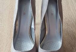 Nowe buty szpilki szare 39 obcas uszy królika króliczek jasne wysokie szpic